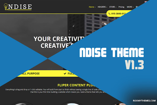 Weebly Template Updates - Ndise Theme Version 1.3 - Roomy Themes