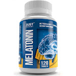 Pharmaceutical Grade Melatonin Supplement by Just Potent | 10mg Tablets | Better Sleep | Brain Health | 120 Count | Fast Acting and Non-Habit Forming