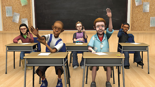 TLE TeachLivE is a mixed-reality classroom simulator that uses avatars.