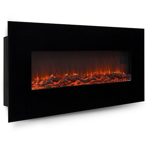 "Fireplace Heater 50"" Electric Wall Mounted Adjustable Heat Settings"