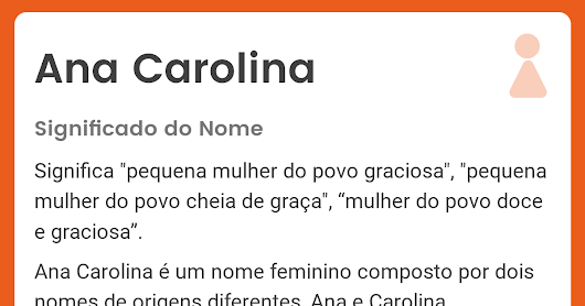 Significado do nome Ana Carolina