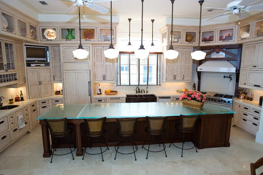 Kitchen Design Glass Tops For Cool And Unusual Kitchen Designs