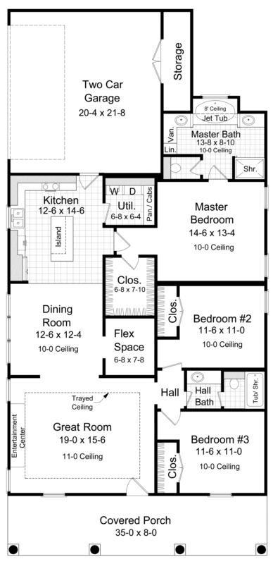 Narrow Lot Plan 1 650 Square Feet 3 Bedrooms 2