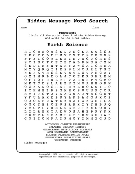 Remarkable image intended for earth science printable worksheets