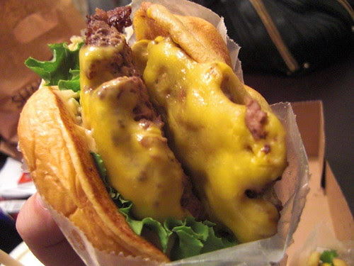 The double Shack burger