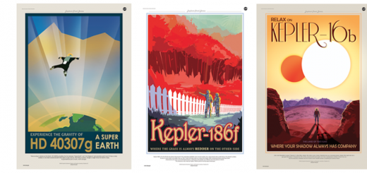 NASA's retro travel posters for real exoplanets are a thing of beauty