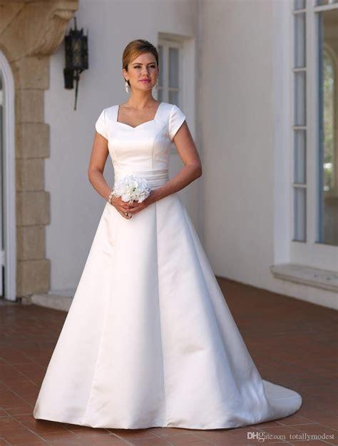 Discount Vestido De Noiva A Line Simple Satin Vintage