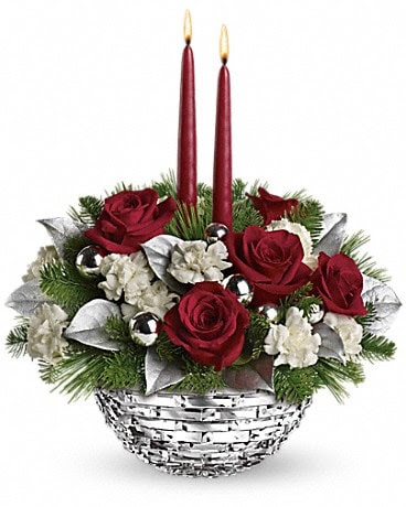 Teleflora S Sparkle Of Christmas Centerpiece By Candlelight Florist
