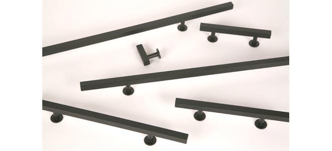 Matte Black Finish - Square Bar Series Cabinet & Drawer ...