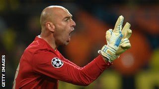 Malaga goalkeeper Willy Caballero