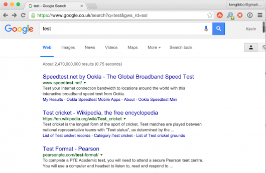 Google Testing Infinite Scroll Search Results?