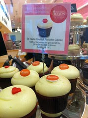 On location: charity red velvet cupcakes at Georgetown Cupcake SoHo by Rachel from Cupcakes Take the Cake