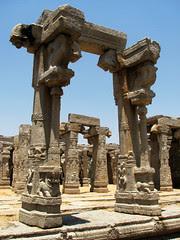 Pillar behind