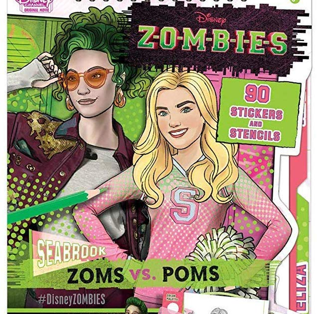Addison Disney Zombies Movie Coloring Pages - coloring pages