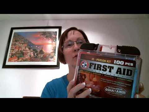 Be Smart Get Prepared 100 Piece First Aid Kit: #Review