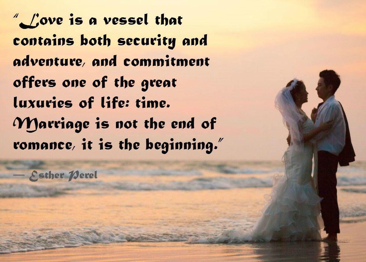 wedding couple on beach mitment quotes