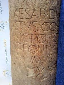 Columna miliaria romana
