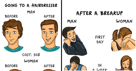 14 Comical Scenarios to Show How We Men and Women Are So Different