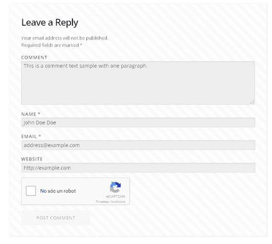 reCAPTCHA in WP comments form — What about WordPress