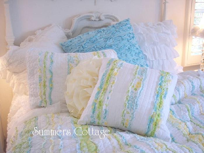 Shabby Chic Bedding Cottage Pillows & Shams