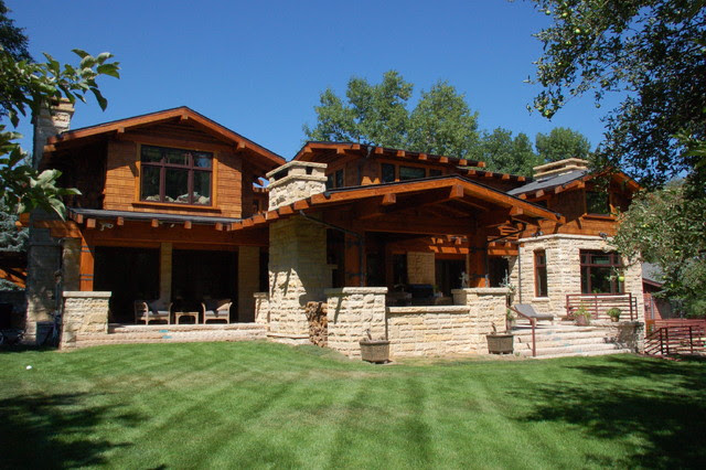 Craftsman Style New House  Traditional  Exterior  denver  by American House Design Company