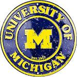 Signs 4 Fun Srcmw Mi Univ. Wolverines Round Sign