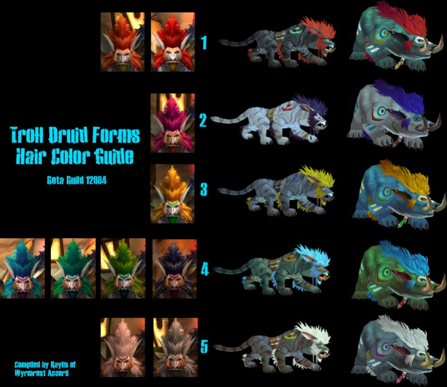Troll Druid Color Chart How To Play A Druid Wow 305841280895