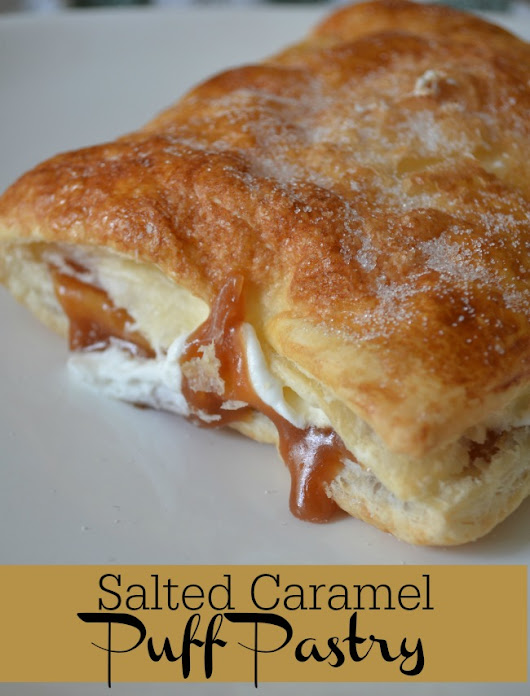 This Salted Caramel Puff Pastry is so good and easy to make