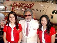 Vijay Mallya and Kingfisher. Photo by BBC