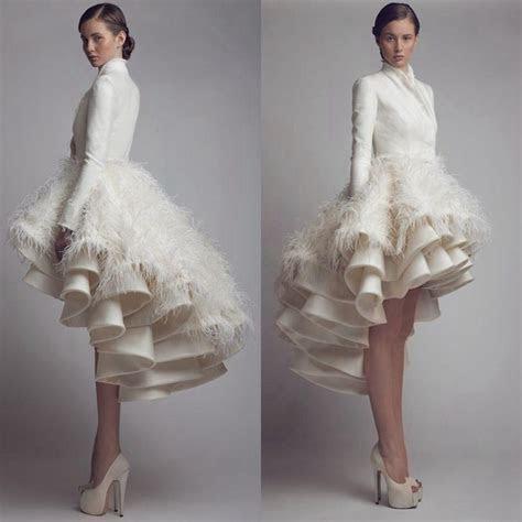 Designer Krikor Jabotian High Low Wedding Dresses High