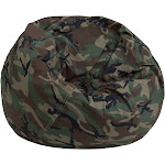 "30"" Cotton Upholstery Small Camouflage Design Kids Bean Bag Chair by Christmas Central"