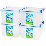 Ziploc WeatherShield 44 Quart Storage Box 4 Pack Clear