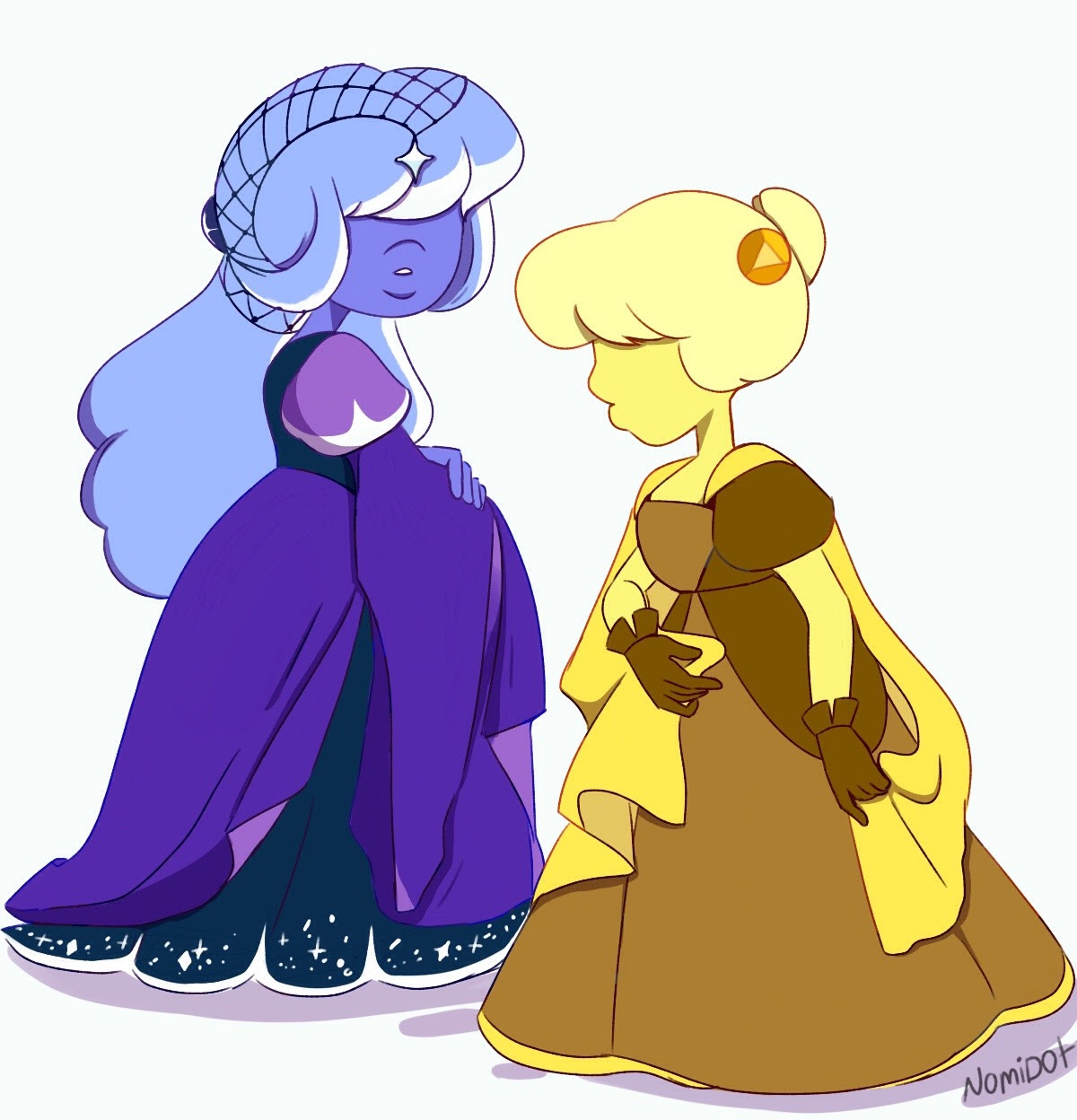 Star Sapphire and Yellow Sapphire Fun fact: Both of them like scaring other gems with fake morbid predictions.