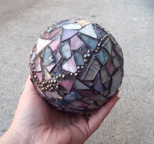 Gazing Ball Crystal Ball Home Decor by PiecesofhomeMosaics on Etsy