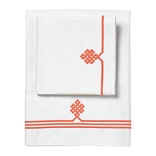 Coral Gobi Embroidered Sheet Set | Serena & Lily