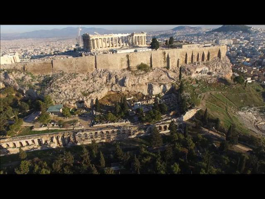 Acropolis of Athens Greece as seen by a Drone -AUTO Photo News