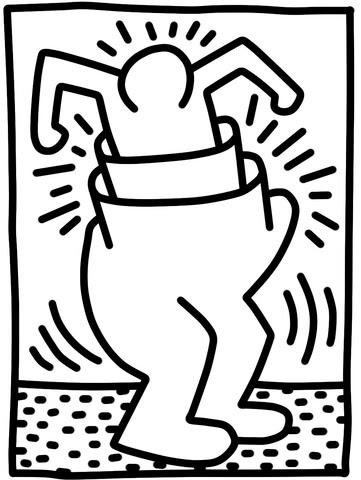 Coloriage Figure Du Magasin Pop Par Keith Haring Coloriages à