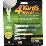 4 Yards More Golf Tees - Variety Pack