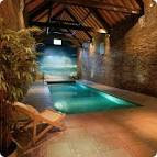 Exotic Swiming Pools Inside The House with Beach Wallpaper ...