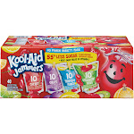 Kool Aid Jammers Drink, 40 Pouch Variety Pack - 40 pack, 6 fl oz pouches
