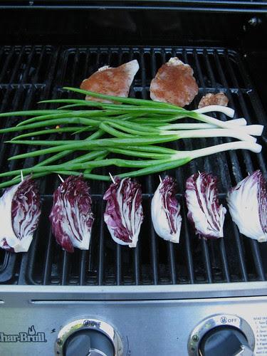 Grilled Chicken, Green Garlic & Radicchio