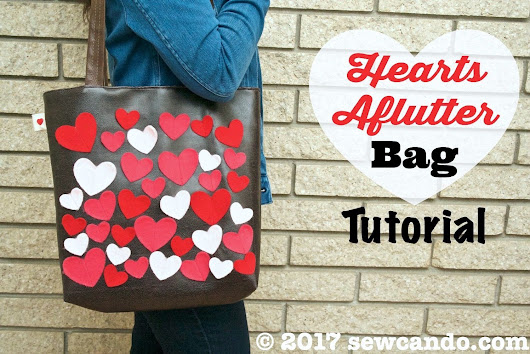 Hearts Aflutter Faux Leather Tote Bag Tutorial