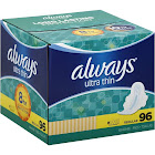 Always Ultra Thin Regular Pads with Flexi-Wings - 96 count