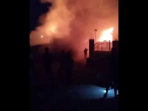 Breaking: Fire guts Marian market Calabar burns  shops and properties.