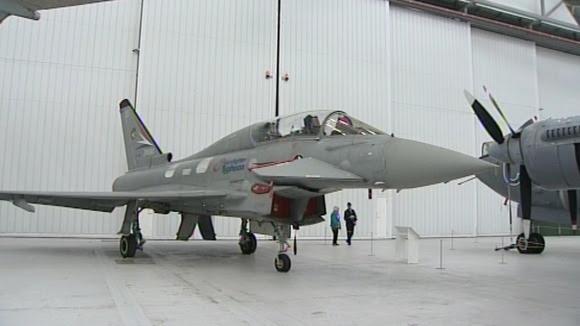 Typhoon aircraft were scrambled to intercept a civilian plane.