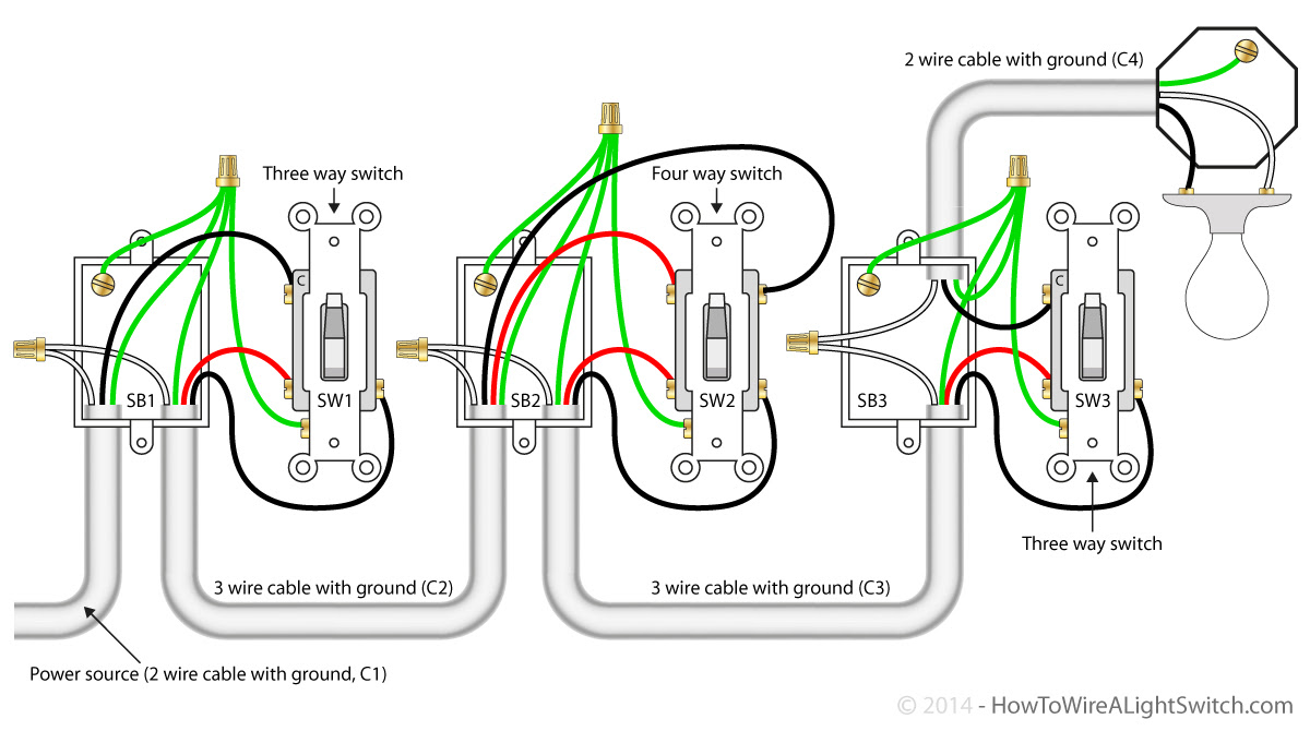 307 Wiring Diagram For 3 Way Switch Feed At Light Wiring Resources