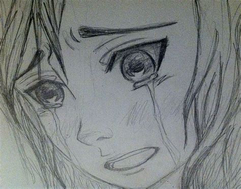 drawing   anime girl crying face google search art