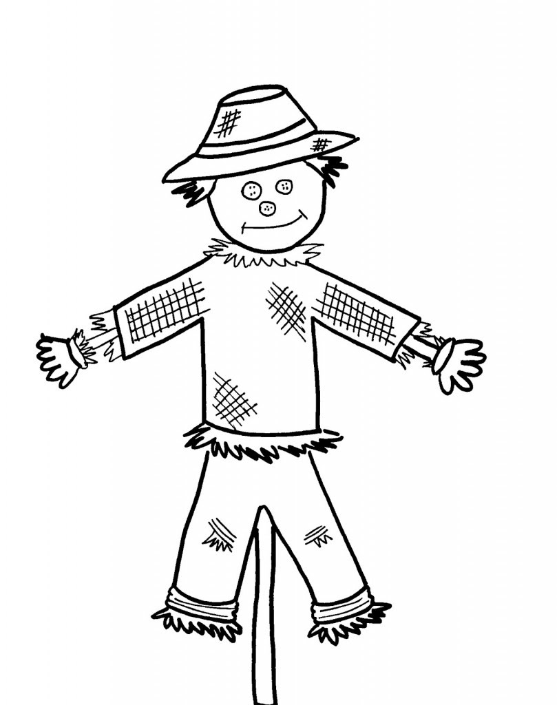 Printable Scarecrow Coloring Pages For Kids Cool2bkids Coloring Pages