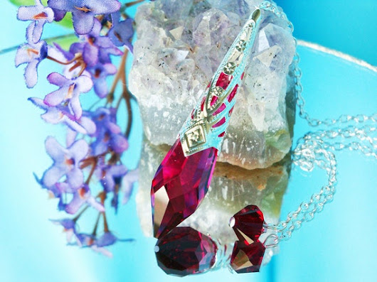 Swarovski Red Crystal Pendulum Metaphysical by CrystalBlueDesigns