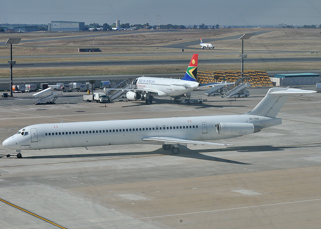 """Global Aviation's MD82 """"ZS-TOG"""" South Africa"""